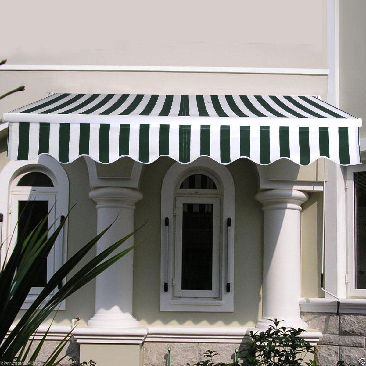 Manual Retractable Awning With Heavy Duty Cloth Specially Designed
