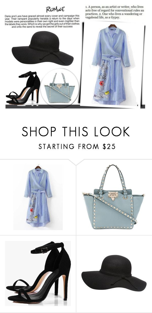 """""""Bez naslova #18"""" by lejla14 ❤ liked on Polyvore featuring Valentino, Boohoo and Industrie"""