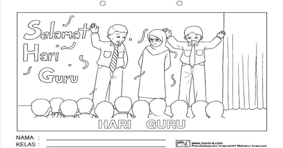 Mari Mewarna Gambar Selamat Hari Guru Peringkat Sekolah Gambar Mewarna Selamat Hari Guru Kartun Gambar Kartun