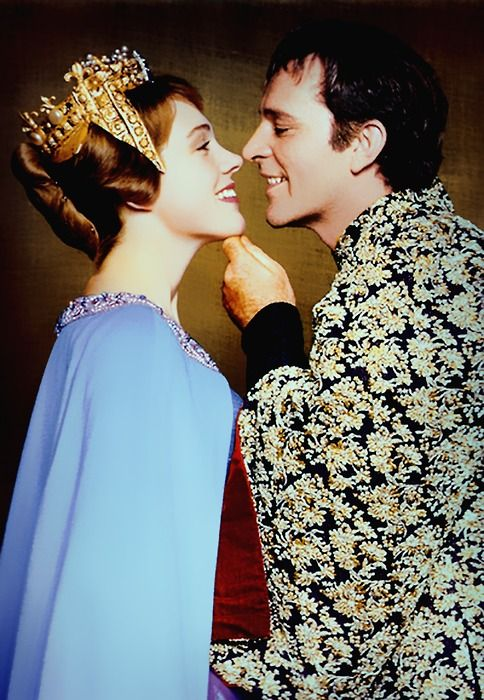 "Richard Burton and Julie Andrews in ""Camelot"""