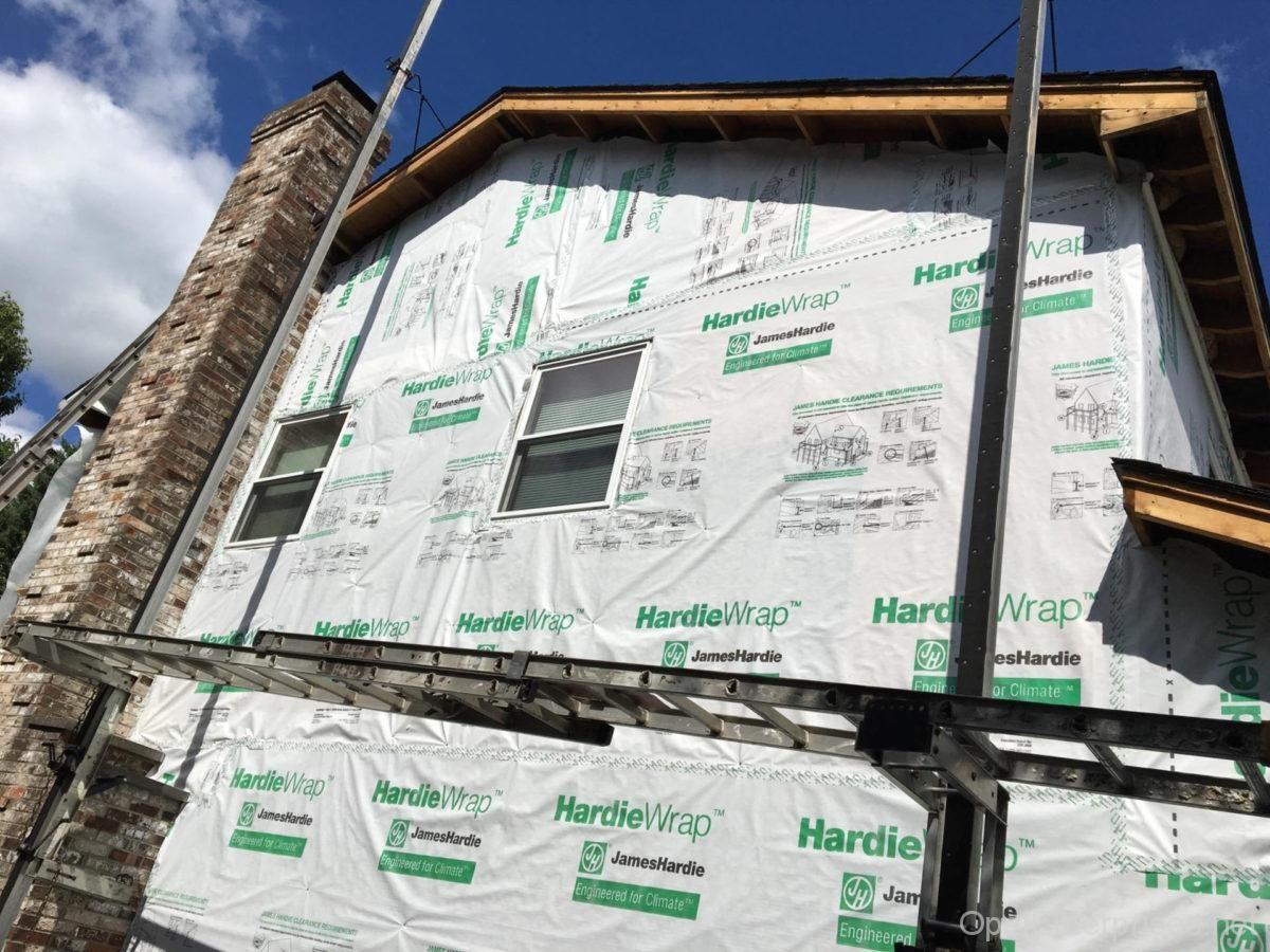 House Wrap Using Hardiewrap Exterior House Renovation Replacing Siding James Hardie Siding