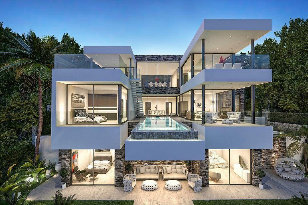 Zuhause, Architektur, Moderne Villa, Moderne Bauernhäuser, Schöne Häuser,  Hausfassaden, Volles Haus, Haus Der Architektur, Haus Innenräume