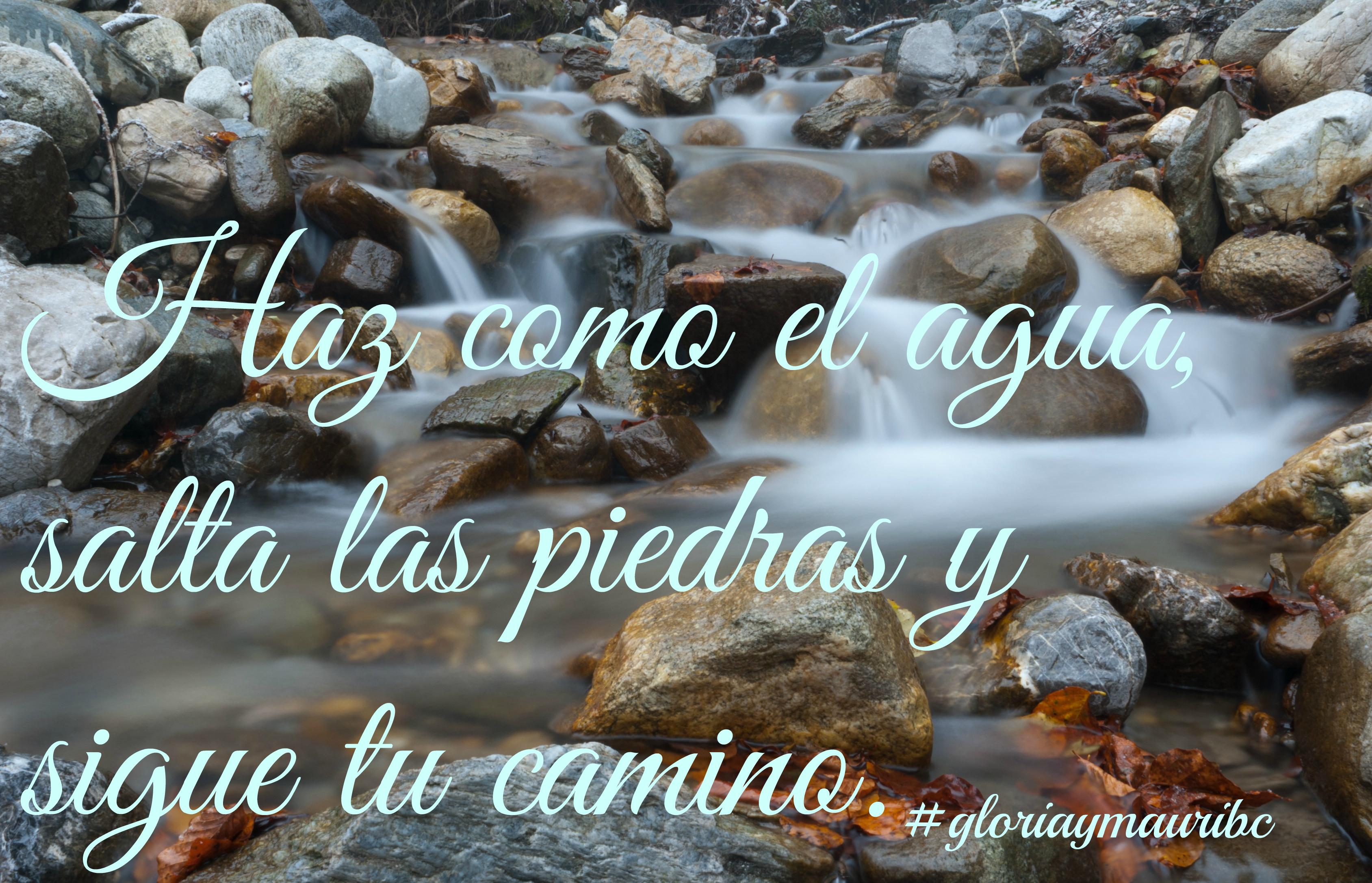 Hay saltar los obstaculos y rodearlos, No paralizarte delante de ellos. https://www.facebook.com/gloriaymauri