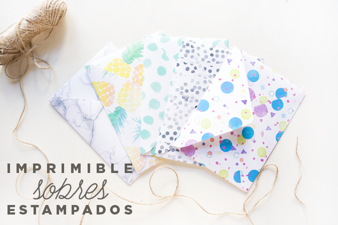 Para invitaciones, tarjetas, cartas... Prepara estos bonitos sobres y sorprende al destinatario.