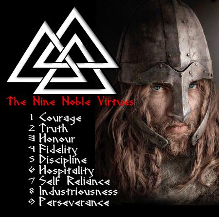 The Nine Noble Virtues of the Norse Pagan Warrior #vikingsymbols