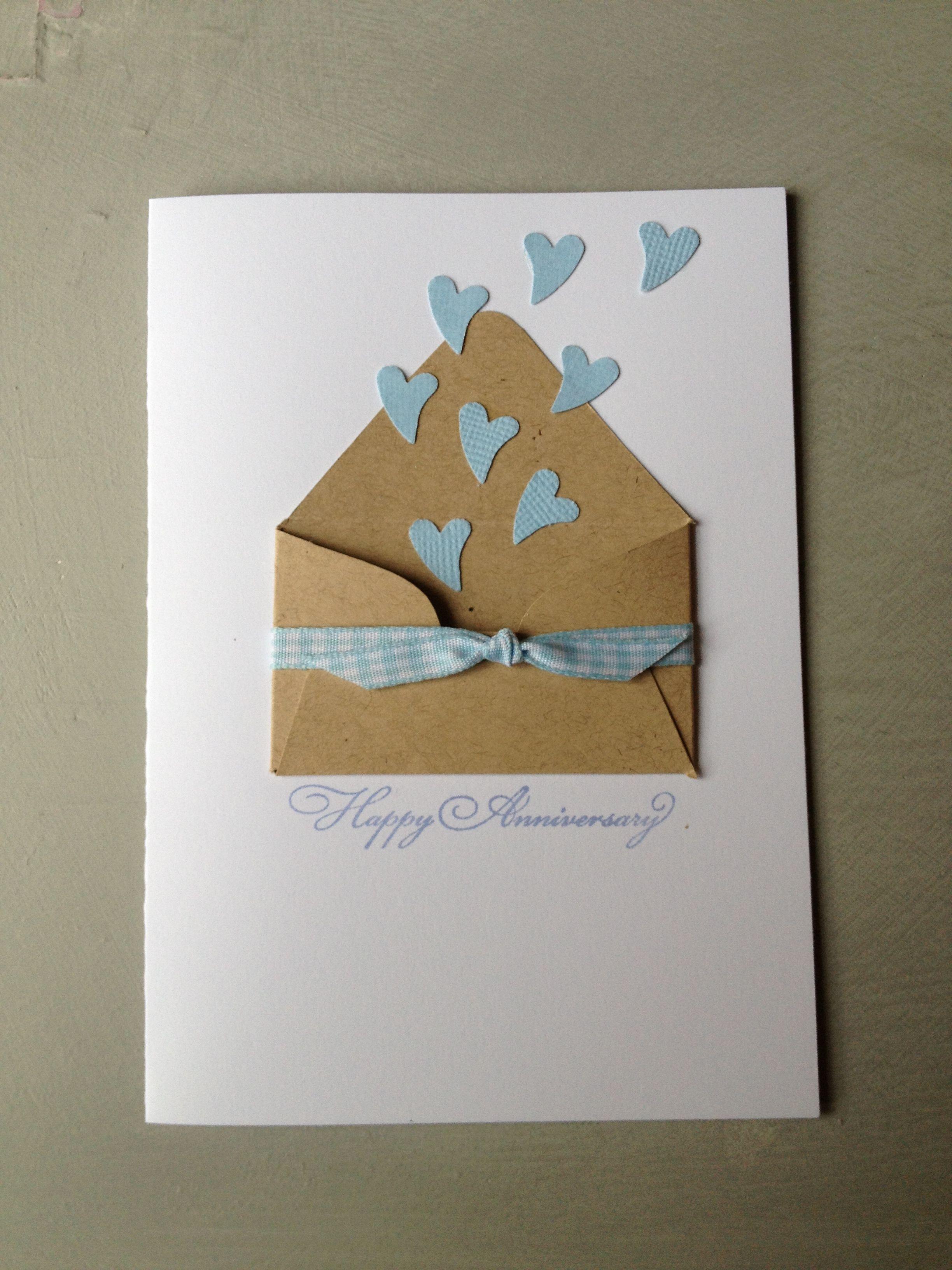 Cute Idea For An Anniversary Wedding Card Anniversary Cards