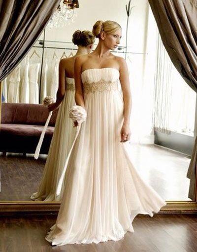 Flowy wedding empire wedding dress