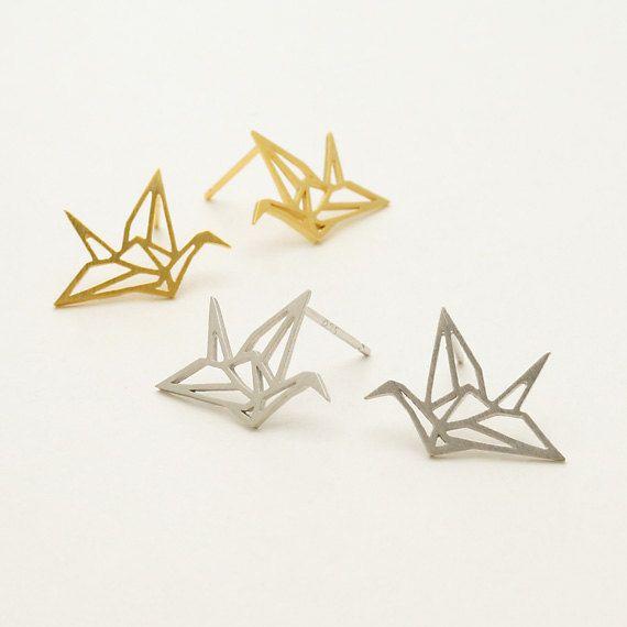 earrings: crane