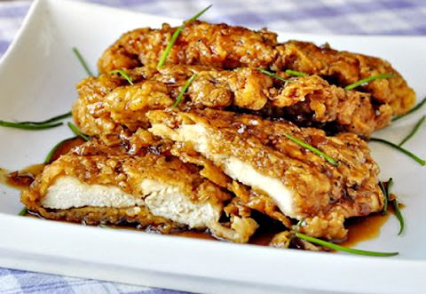 Double crunch Honey Garlic Chicken!!