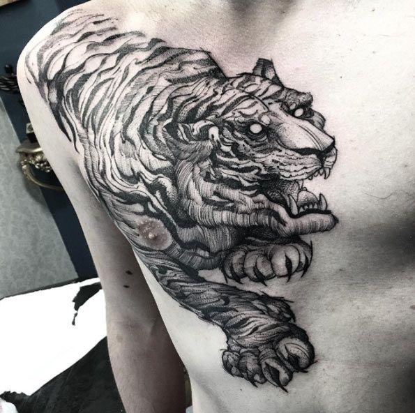 52 Shockingly Epic Tiger Tattoos Tiger Tattoo Tiger Tattoo Design Epic Tattoo