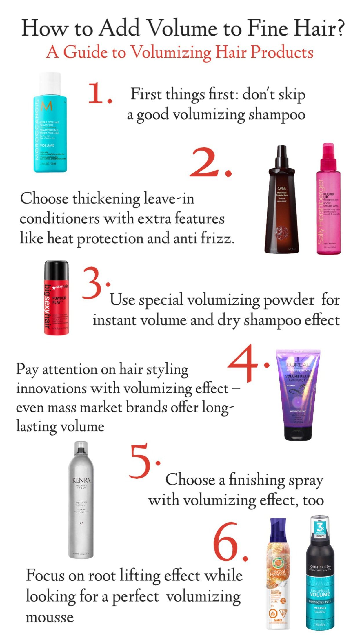 Top 7 Volumizing Hair Products For Fine Hair Shampoo For Thinning Hair Volume Hair Fine Hair