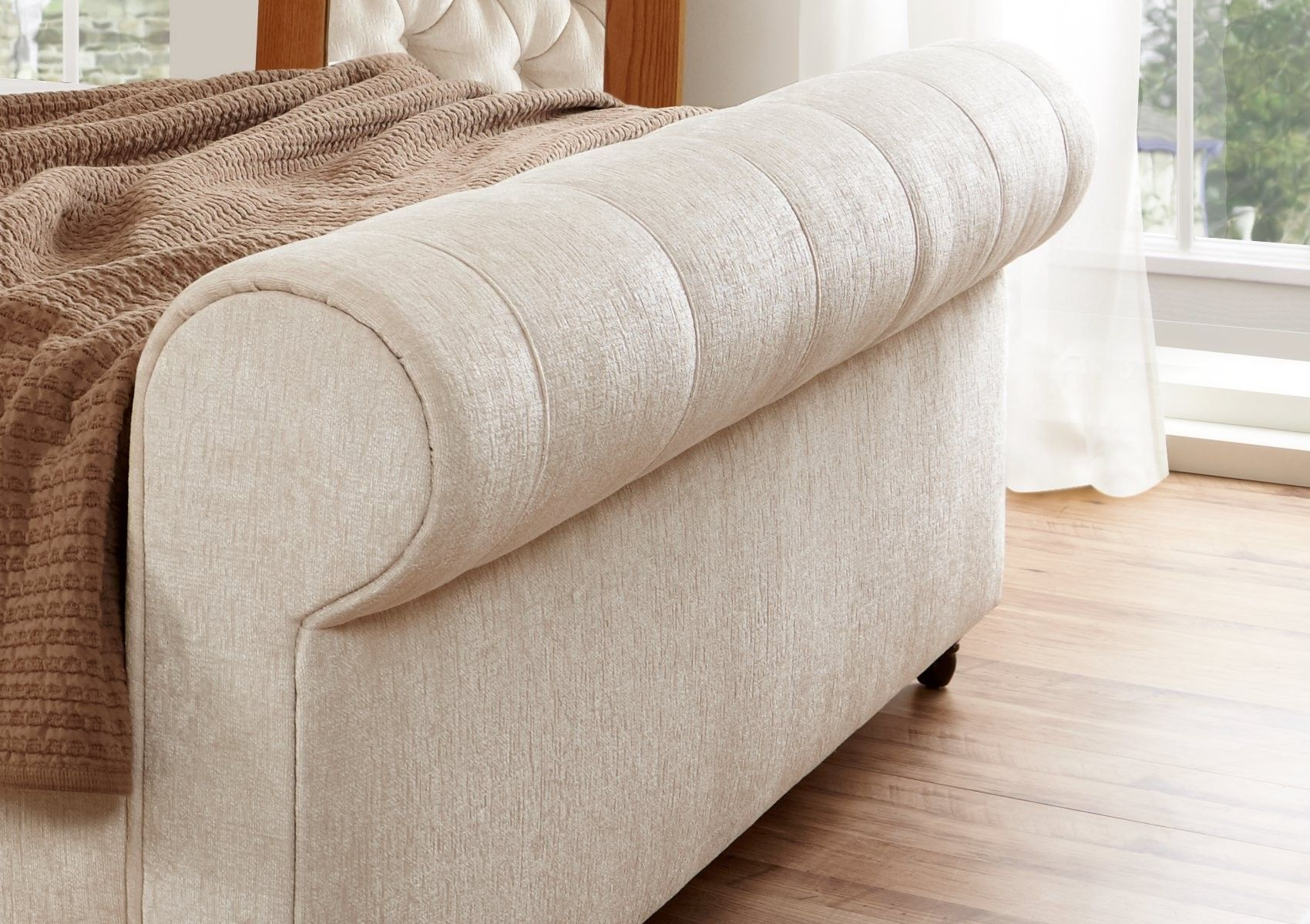 upholstered leather sleigh bed. Elegance Upholstered Sleigh Bed Leather