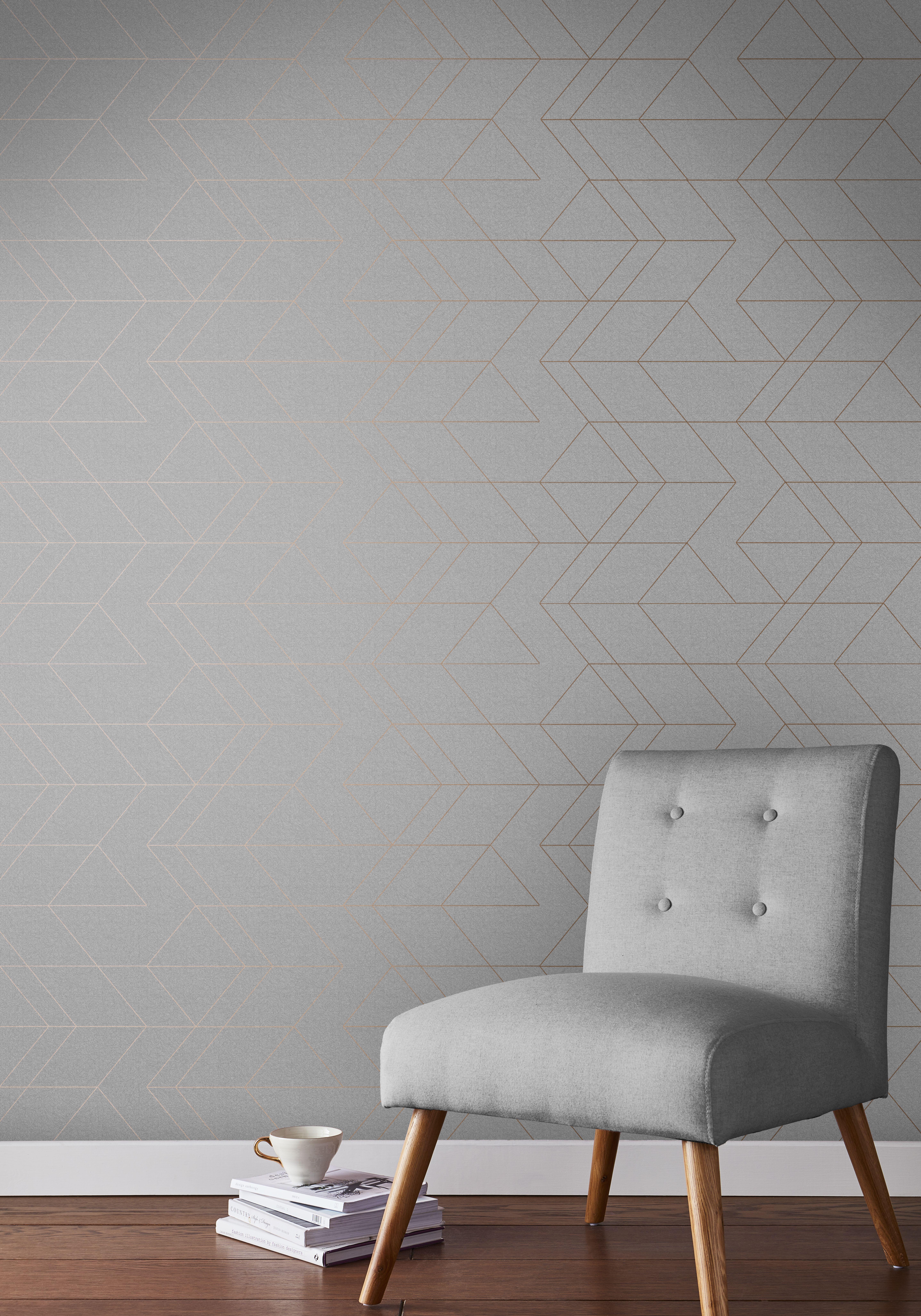Balance Grey Rose Gold Wallpaper In 2021 Rose Gold Wallpaper Gold Wallpaper Living Room Gold Wallpaper