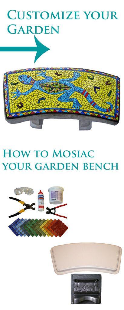 Remarkable How To Mosaic Your Garden Bench Garden Bench Table Inzonedesignstudio Interior Chair Design Inzonedesignstudiocom