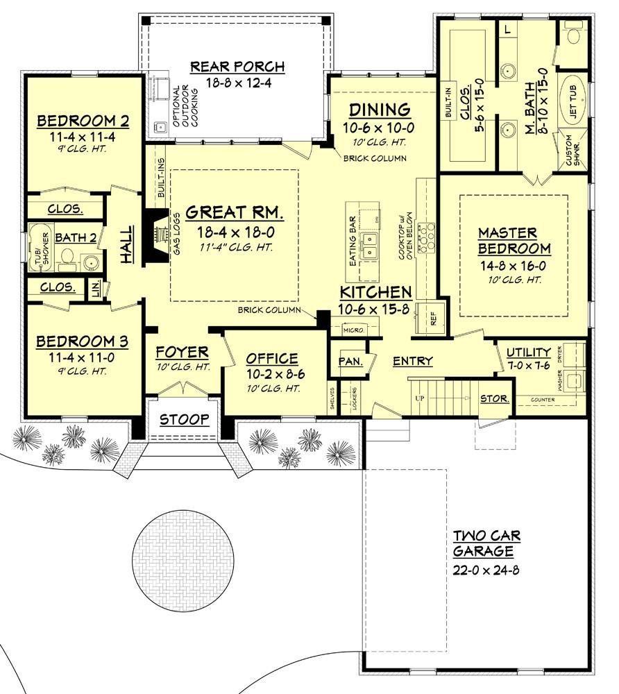 Kynslee House Floor Plan Acadian House Plans Floor Plan