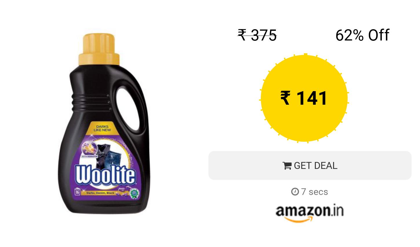 Woolite Laundry Liquid Detergent 1 L Darks Laundry Liquid