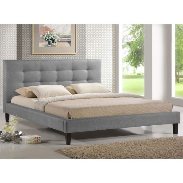 Grey Bed Frame Bed Bath Beyond King Size Platform Bed Upholstered Beds Upholstered Platform Bed