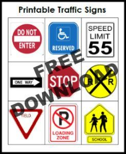 Environmental Print Printable Road Signs in the Block ...