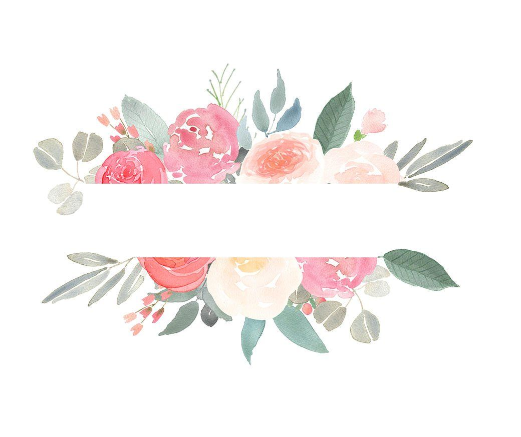 Hand Drawn Clip Art Watercolour Flora Frames And Borders For Etsy Floral Watercolor Flora Frame Flower Background Wallpaper