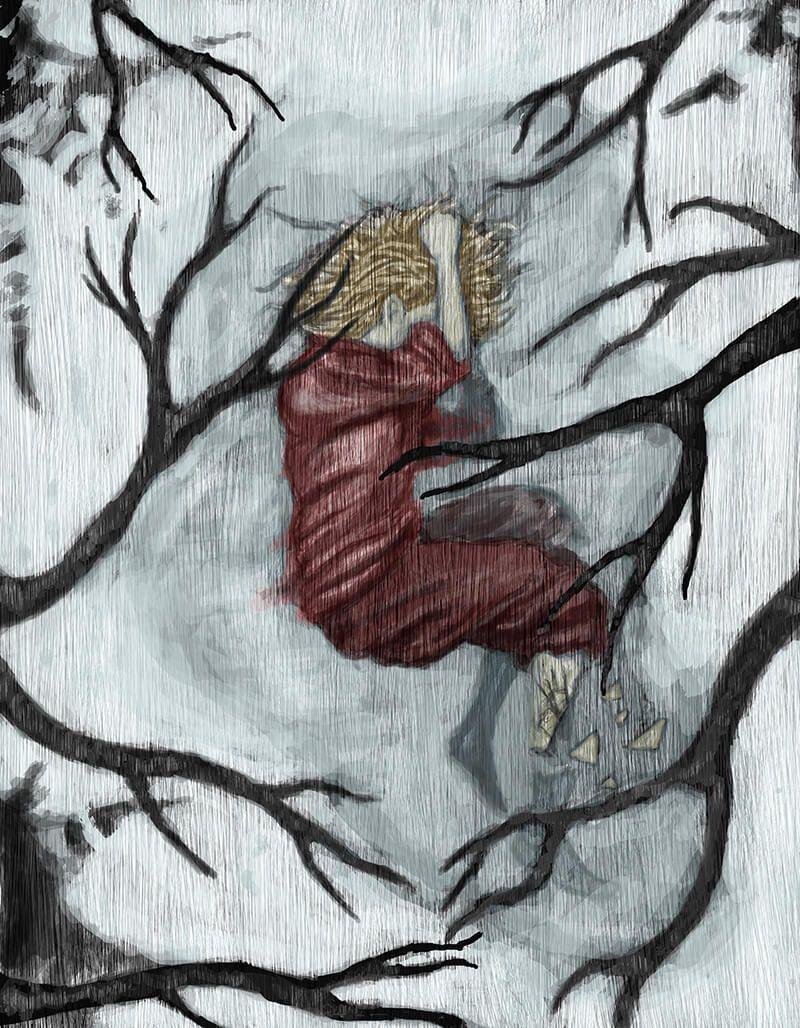 En ese campo un día crecerán setas, se levantará un árbol y su sombra se derramará sobre cada brizna de hierba. Vendrán las bestias y pisotearán cada rincón, y bajo sus pezuñas se quebrarán hojas y ramas, y morderán la corteza reblandecida por la lluvia, y sus colmillos olvidarán su rastro.    E: Oliver Davidson I: Carlos Álvarez