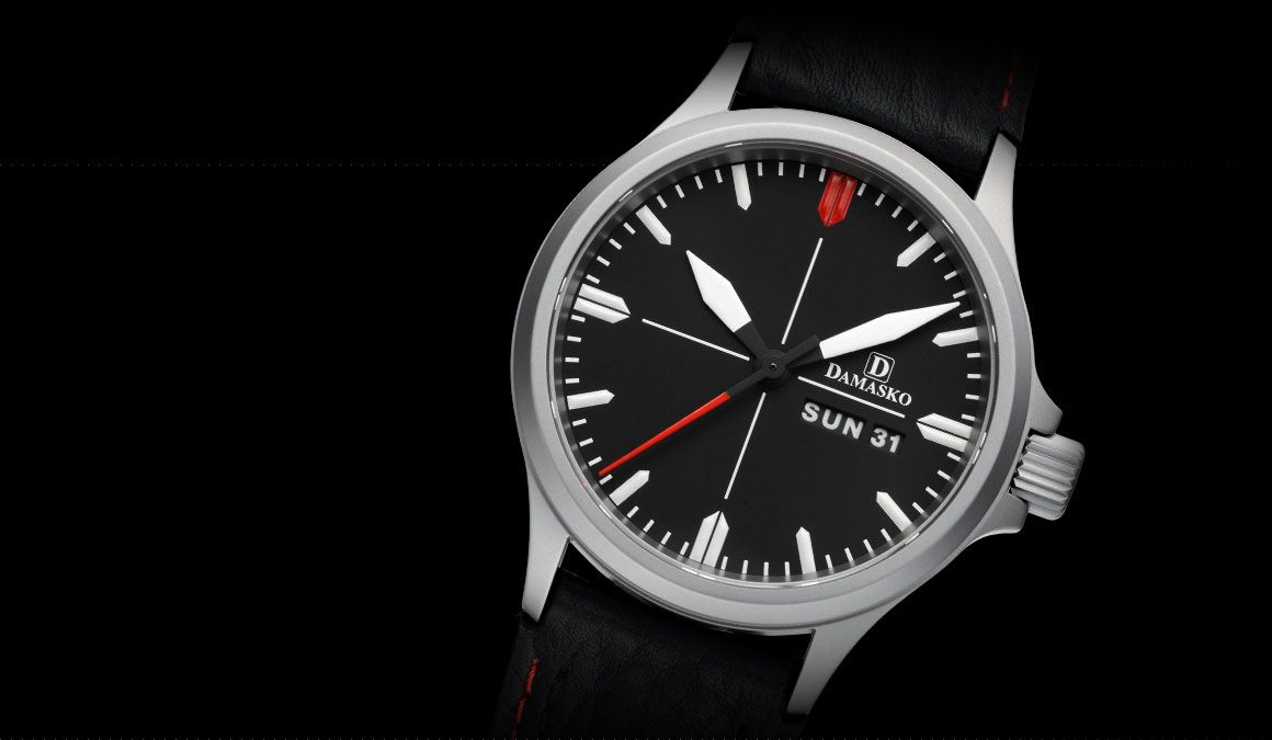 DA 34 - Klassische Drei-Zeiger-Modelle - Drei-Zeiger-Uhren - Modelle | Uhrenmanufaktur Damasko