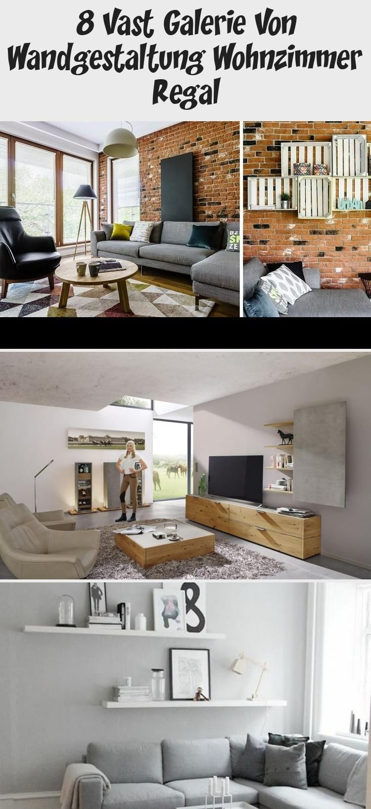 8 Vast Galerie Von Wandgestaltung Wohnzimmer Regal In 2020 Home
