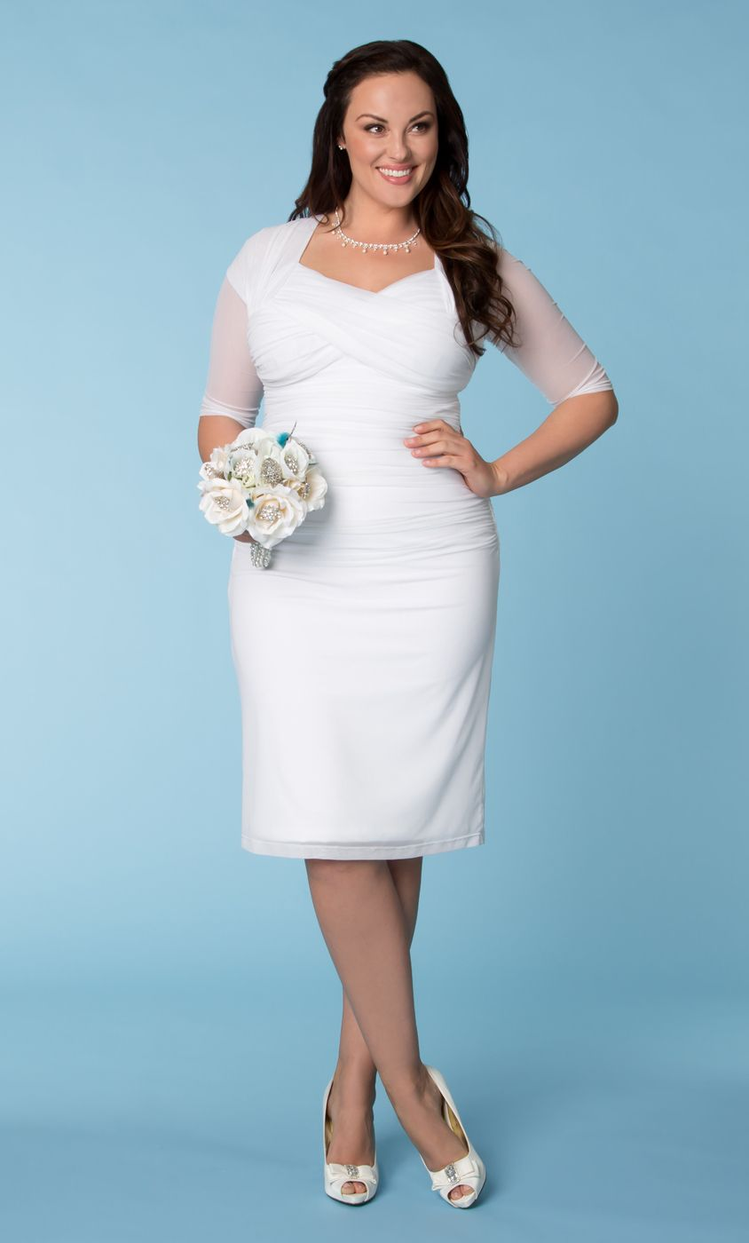 Our plus size Raquel Ruched Wedding Dress is the perfect blend of ...