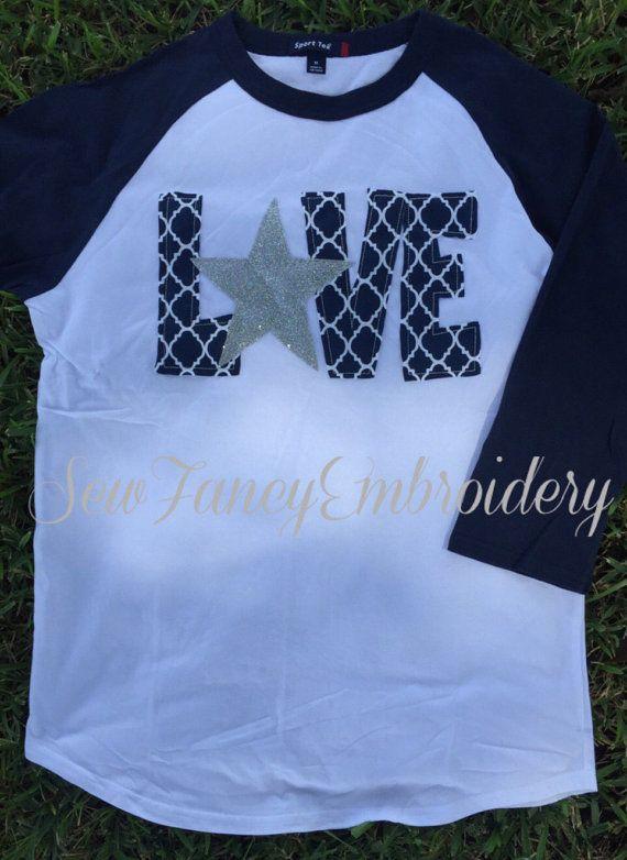 6abd5b974 Dallas Cowboys Love tee Cowboys shirt Dallas by SewFancyEmbroidery ...