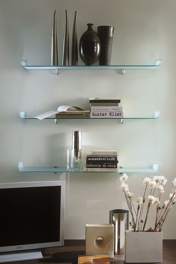 Frosted Ulani Shelves With A Curved Lip On Both Sides Look
