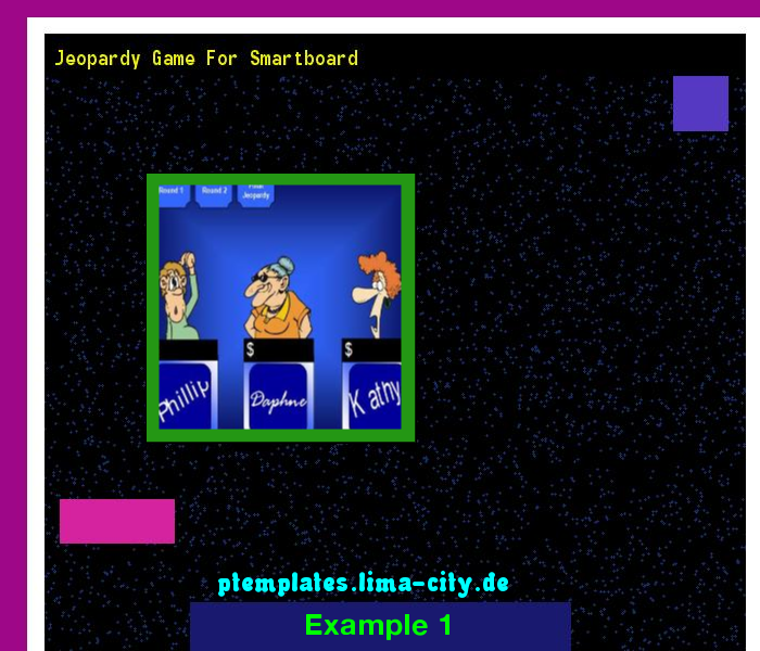 Jeopardy game for smartboard. Powerpoint Templates 135225