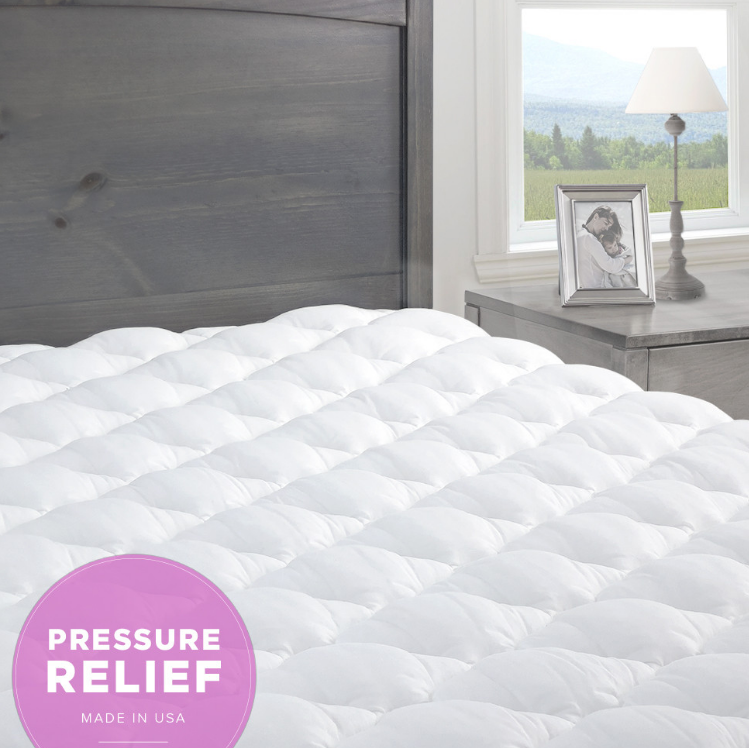 Pressure Relief Mattress Pad with Fitted Skirt Made in
