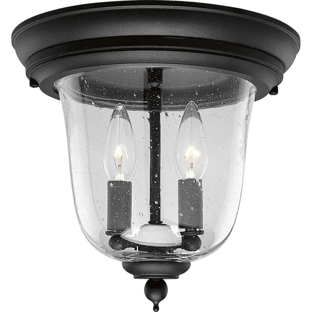 Two light textured black clear seeded glass outdoor flush mount two light textured black clear seeded glass outdoor flush mount 199e0 annapolis lighting workwithnaturefo