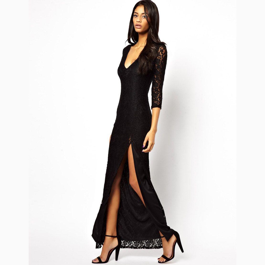 Long sleeve lace dress asos discount