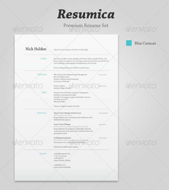 20 Best Resume Templates - indesign resume templates
