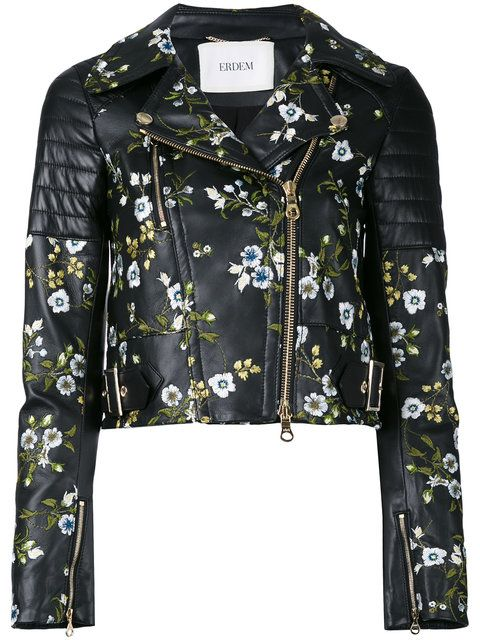 ERDEM Embroidered Cropped Jacket. #erdem #cloth #jacket
