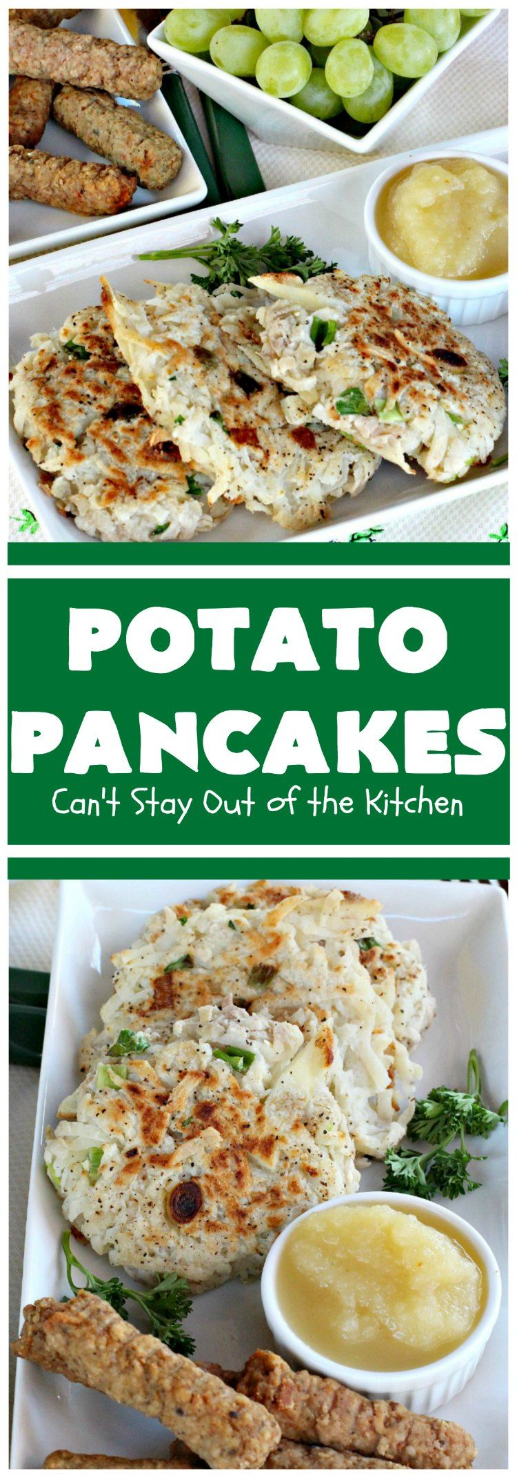 Potato Pancakes Potato Pancakes | Can't Stay Out of the Kitchen | this vintage is a keeper! It's great to serve for or Serve with ketchup or the condiments of your choice.