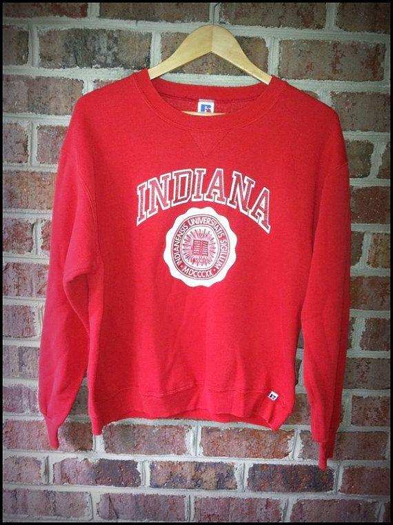 Vintage 80 s Indiana University Hoosiers Crewneck Sweatshirt - Size ... 9c4507395