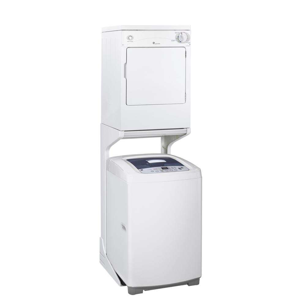 Ge 3 6 Cu Ft 120 Volt White Stackable Electric Vented Portable Compact Dryer Dskp333ecww The Home Depot In 2020 Portable Washer Portable Washer And Dryer Portable Dryer
