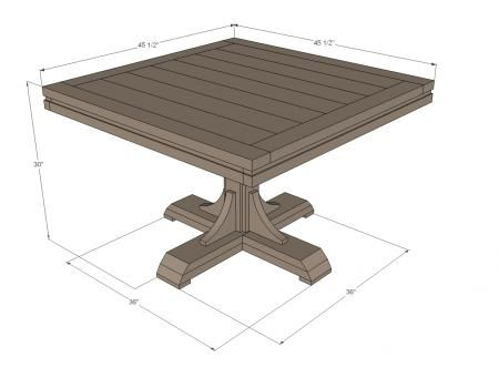 Square Pedestal Table Diy Furniture Plans Pedestal Table Diy Diy Farmhouse Table