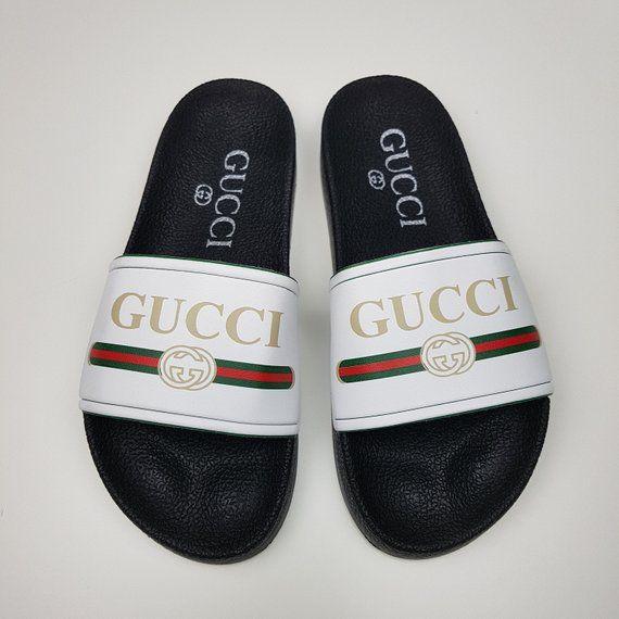 bf565048b4638 Gucci inspired slide sandal women, Fashionable Glam Slides, Gucci ...