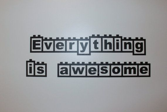 Everything Is Awesome Wall Decal by BugzyBoutique on Etsy
