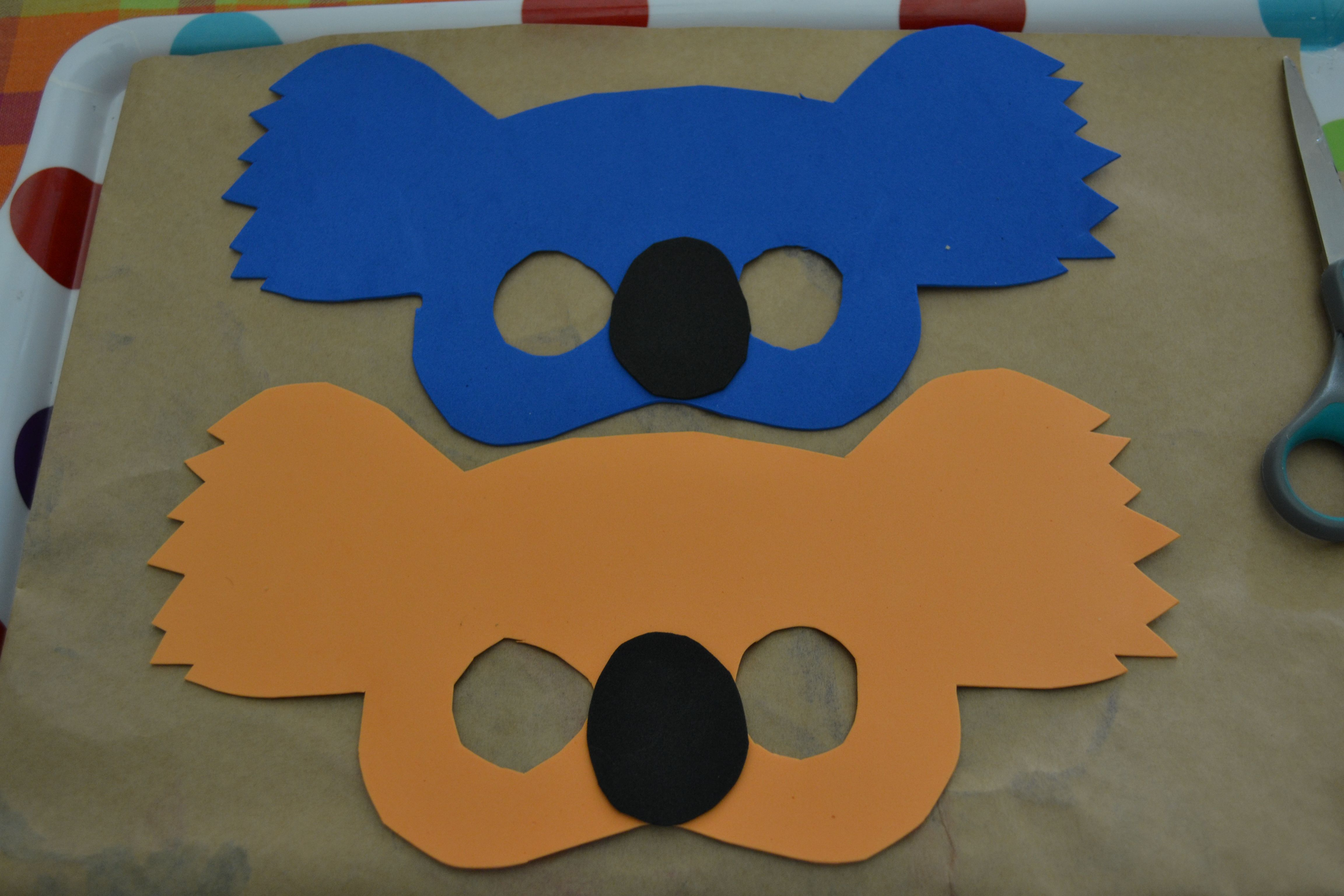 Australia day koala masks with mudpies and sunshine for Mask craft for kids