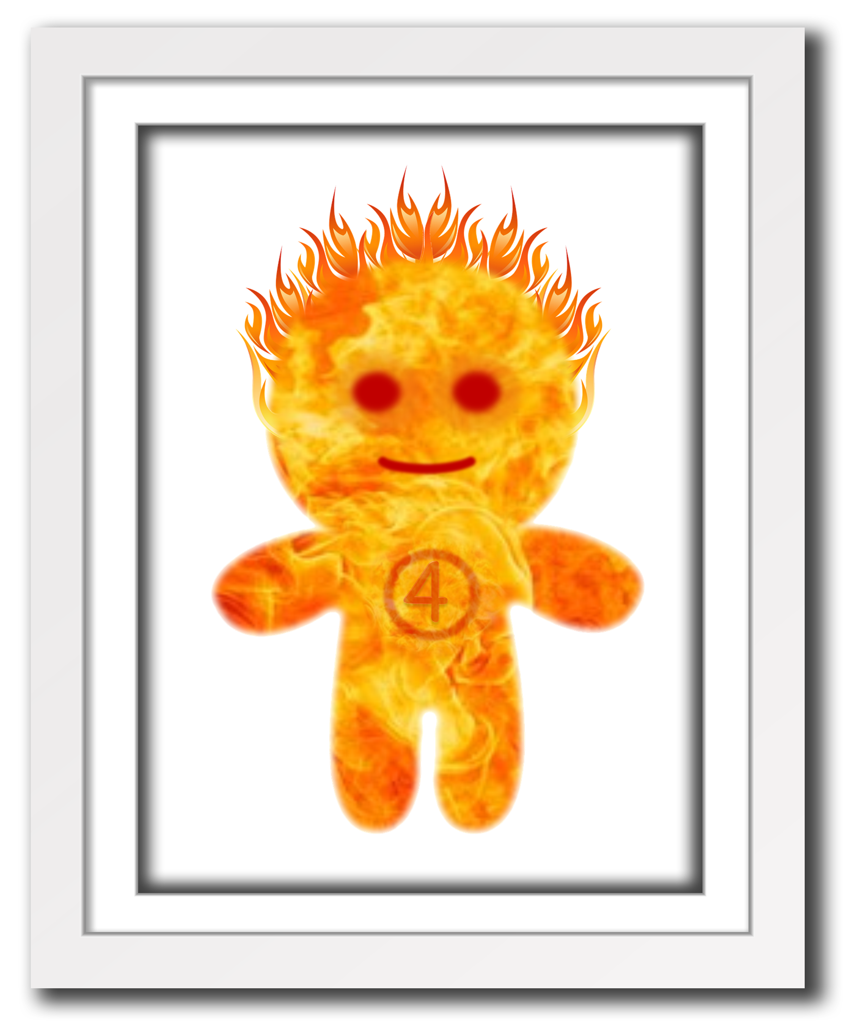 Superhero Human Torch print for little boys room or nursery, cute ...