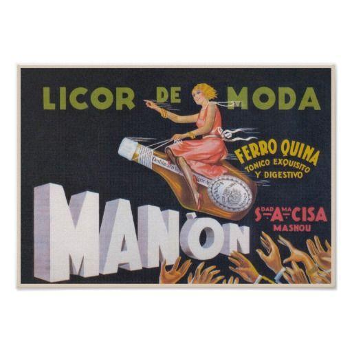 Spanish Liqueur Vintage Advertisement Poster