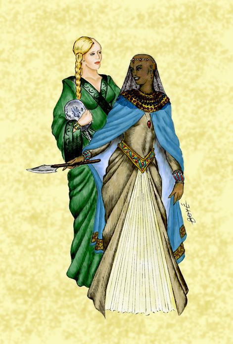 Tuon (Daughter of the Nine Moons) & Selucia