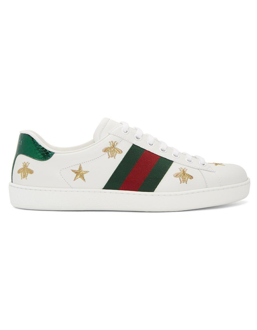f0fdfd3922c GUCCI White Bee   Star New Ace Sneakers in 2019