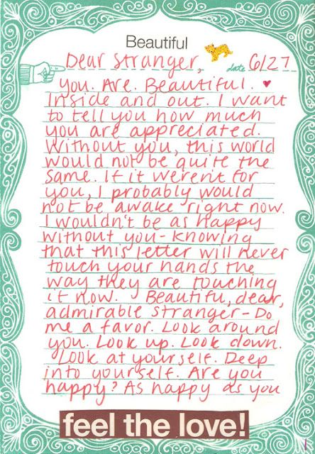 A Snippet From This Letter Do Me A Favor Look Around You Look Up