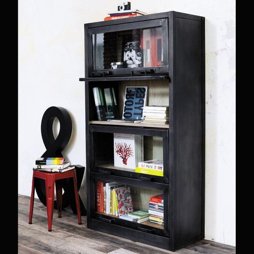 Vitrinekast Edgar Recycled Wood Wood Display Bookcase