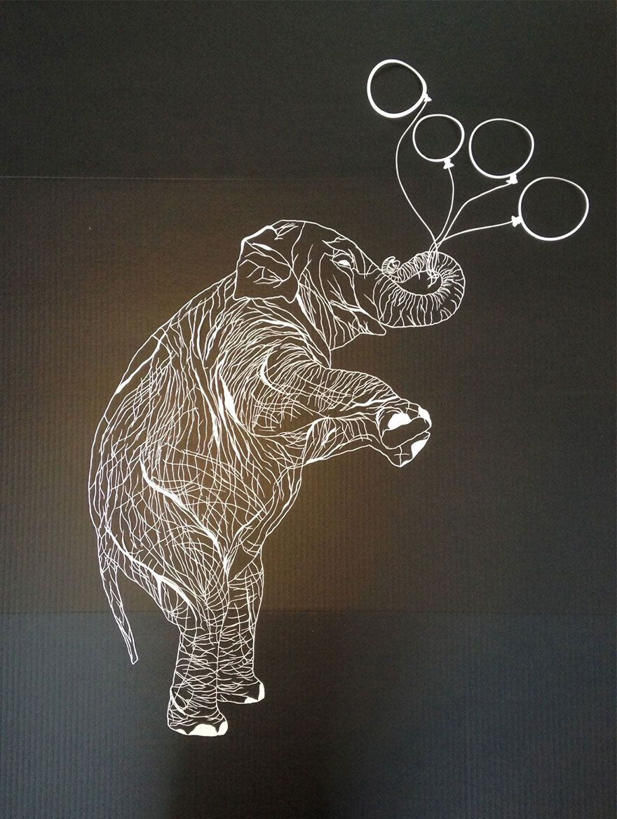 Incredibly Intricate HandCut Paper Art By Maude White Cut Paper - Intricate hand cut paper art maude white