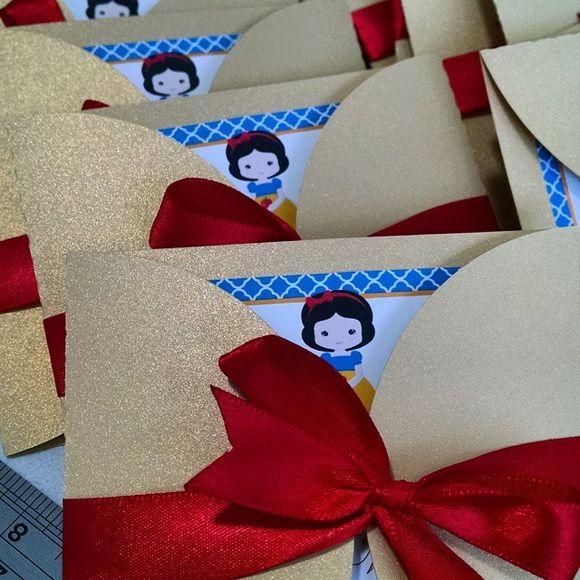 Convite Branca De Neve Branca Neve Pinterest Decos